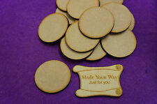 25 x Circle Round 4cm/40mm Craft Embellishment MDF Laser cut wooden shape