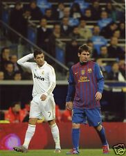 CRISTIANO RONALDO REAL MADRID-LIONEL MESSI BARCELONA 8X10 SPORT PHOTO (XXXL)