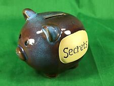 Stone Ware Secrets Pig Piggy Bank in New Condition
