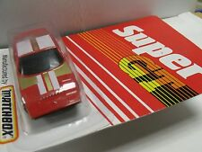 MATCHBOX SUPER GT,#BR7/8 SILVA BLACK WIDOW,MADE IN CHINA,1986,red,NEWinblister