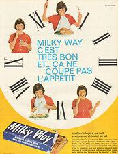 Publicité 1965  Milky Way mousse légère enrobée de chocolat au lait