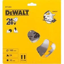 DEWALT DT1204 165MM 24 TOOTH X 10MM BORE TCT CIRCULAR SAW BLADE DW007 wood