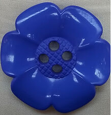 Giant large flower button - 63mm - Blue