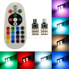 16Color RGB LED T10 168 12Led 5050 W5W Map Dome Interior Light Remote Controller