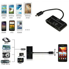 For Mobile Phone PC3in1 OTG SD Micro-SD Card Reader USB Port HUB Connection Kit