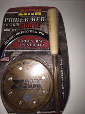 ZINK CALLS POWER HEN SLATE FRICTION TURKEY CALL WALNUT POT+DVD STRIKER NEW!