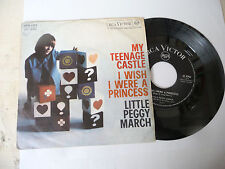 "LITTLE PEGGY MARCH""MY TEENAGE CASTLE-disco 45 giri RCA It 1963"""
