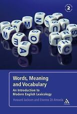 Words, Meaning and Vocabulary : An Introduction to Modern English Lexicology...
