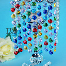 7 FT COLOR GLASS CHANDELIER CRYSTAL BEADED CHAIN WEDDING CHRISTMAS GARLAND 14MM