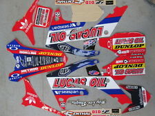 Honda CRF250 2010-13 CRF450 09-12 Lucas Oil kit grafico + kit in plastica
