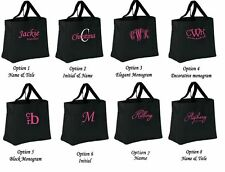 Personalized bridesmaid totes bag bridal wedding group bachelorette party gifts