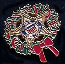 SECRET SERVICE CHRISTMAS WREATH PIN LIMITED!