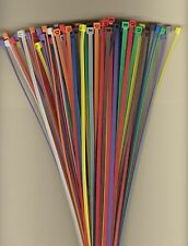 "100 14"" Inch Long 50# Pound Nylon Cable Ties 10 COLORS Zip Tie Ty Wrap MADE USA"