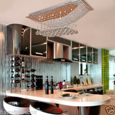 Modern Crystal Ceiling Lighting Chandeliers 8 Light Lamp Pendant Fixture CA