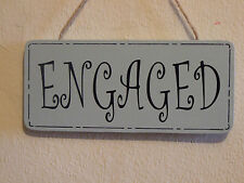 Lovely Decorative Handcrafted Wooden sign ENGAGED / VACANT (Duck Egg Blue)