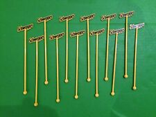 Twelve Schweppes Swizzle / Cocktail Stick / Drink Stirrers