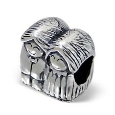925 Sterling Silver Man/Women Married Couple Mr/Mrs Friends Charm Bead Gift B304