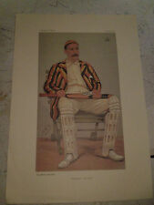 VANITY FAIR PRINT CRICKET YORKSHIRE CRICKET LORD HAWKE