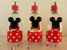 12 Mickey Mouse Fillable Champagne Bottles Baby Shower Favors Prizes Games Decor