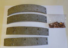 AUSTIN A40 DEVON SOMERSET DORSET 1948-1954 FRONT / REAR BRAKE LININGS ( NJ283)