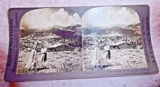 STEREOVIEW PHOTO GREECE GREEK HEIGHTS OF TAYGETUS ANCIENT SPARTA HOMES