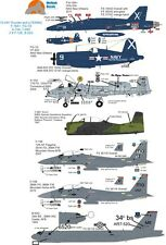 Wolfpakdecals 72-044 F-18 fg-1d A-10a t-28d f-15jet Hornet Corsair Eagle Boeing