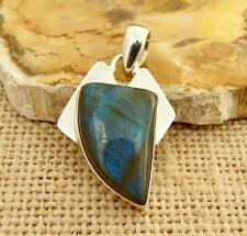 Labradorite 925 Silver Pendant Indian Silver Real Little Gems