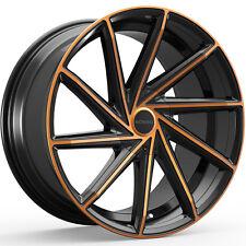 4-NEW Rosso Insignia 20X8.5 5x114.3/5x120 +38mm Black/Copper Wheels Rims