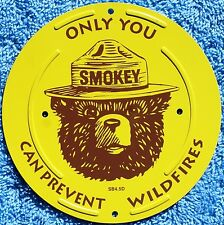 "US Forest Service NEW Smokey Bear 4.5"" Inch Boundary Marker Metal Sign"