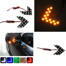 Auto 2 X CAR Side Rearview Mirror Arrow 14SMD LED Turn Signal Light Yellow Lamps
