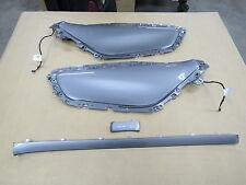 2010-2015 Camaro SS OEM door panels LH RH Ambient SILVER insert w dash trims 9A1