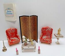 Vintage 1964 Ideal Petite Princess ASIAN FURNITURE -SCREEN, CHAIRS & ACCESSORIES