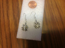 Marijuana Leaf Weed Pot Maryjane Cannibus EARRINGS