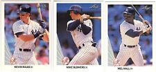 10 1990 LEAF BASEBALL NEW YORK YANKEES CARDS (MAAS RC/BLOWERS RC+++)