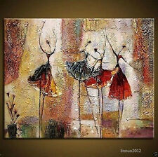 Asian style Modern Abstract Huge Art Oil Painting Canvas: Dancers (No Framed)--