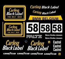 #58 Carling Black Label BMW 1978 1/24th - 1/25th Scale Decals