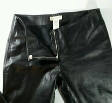 Parallel Designer Women's Black 100% Leather Boot Cut Pant Sz 6 Biker Motorcycle
