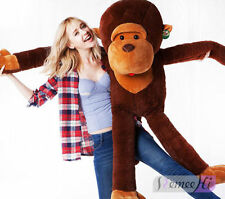 Large Size Funny Stuffed Animal Soft Plush Brown Monkey Doll Toy Cute Gift 70cm