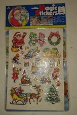 Merry Christmas - Magic Stickers with Activity Board - Reusable