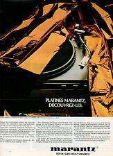 Publicité 1979  Platines MARANTZ  tourne-disques