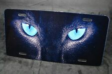 CAT EYES METAL LICENSE PLATE FOR CARS TRUCKS AND SUVS ANIMAL EYES