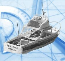 """Model Boat Full Size Printed Plans & Article Fishing Boat 27"""" for Radio Control"""
