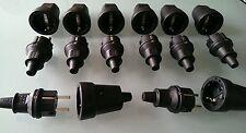 16 Tlg.Set: 8 x Gummi Kupplung + 8 x Gummi Stecker IP 44 - Kostenloser Versand !