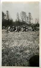 PHOTO ANCIENNE - VINTAGE SNAPSHOT - MILITAIRE FUSIL ARME MANOEUVRE - MILITARY