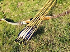 Cobra Snakeskin longbow 15-60# Bow Recurve Bow+6 wooden Arrows for sport hunting