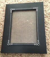 "Black White Dotted 7X9"" Wood Picture FRAME Holds 5X7"" Photo"