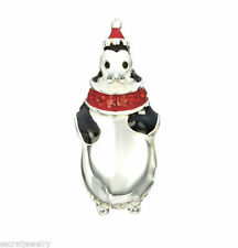Authentic Chamilia Bead Silver Charm Penguin Party Red Jet Swarovski 2025-1235