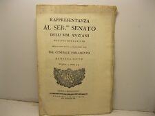 Rappresentanza al ser.mo Senato delli MM. anziani del Portomaurizio