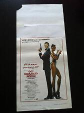 007 JAMES BOND Locandina Poster BERSAGLIO MOBILE A VIEW TO A KILL originale 1 ed