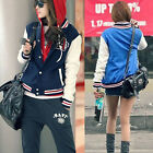 New Fashion Casual Womens Baseball Uniform Loose Long Sleeve Sports Jacket
